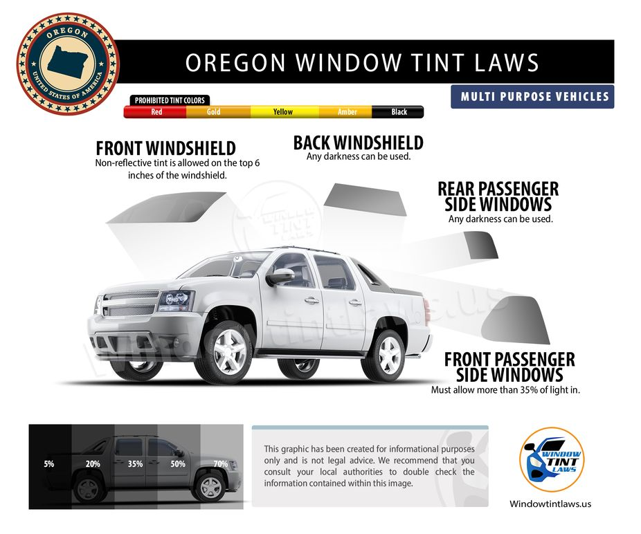 tint laws in oregon