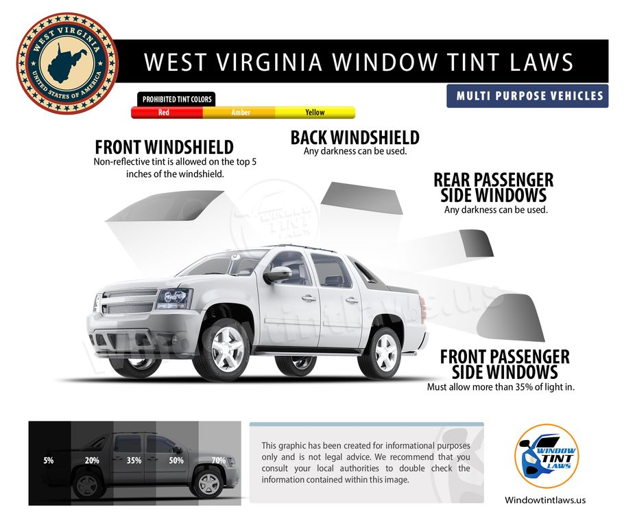 tint laws in west virginia