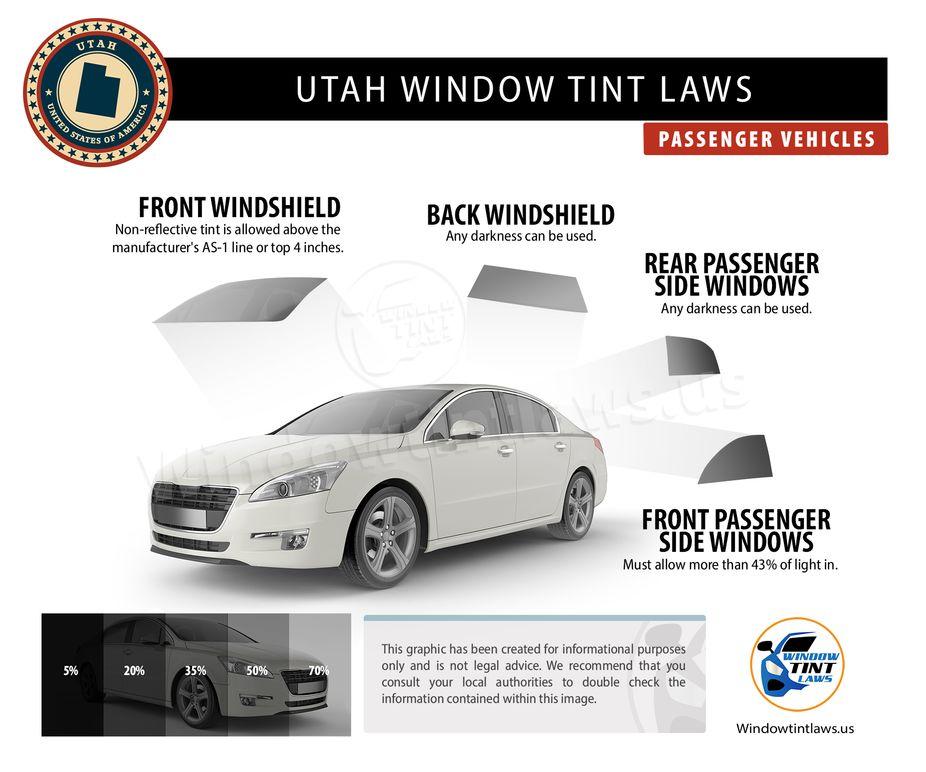 utah tint laws passenger